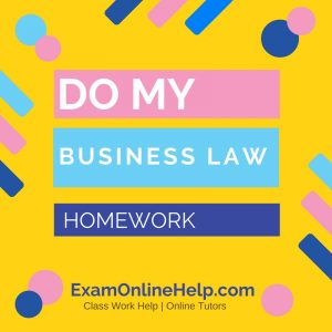 Do my law assignment