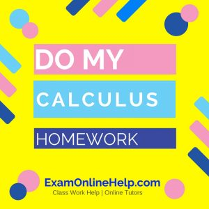 Do My Calculus Homework