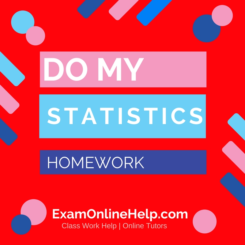 Pay for statistics homework