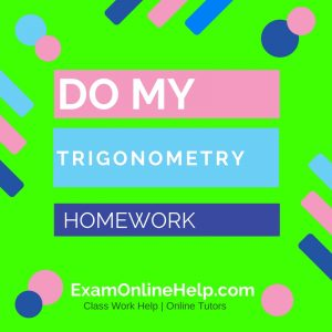 Do my trig homework