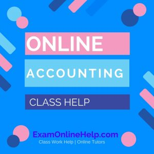 Online Accounting Class Help
