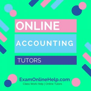 Online Accounting Tutors