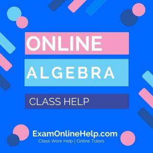 Online Algebra Class Help