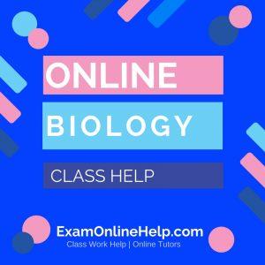 Online Biology Class Help