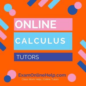 Online Calculus Tutors