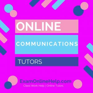 Online Communications Tutors