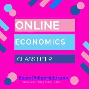 Online Economics Class Help