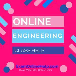 Online Engineering Class Help