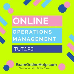 Online Operations Management Tutors