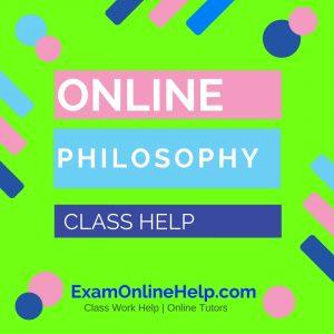 Online Philosophy Class Help