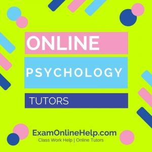 Online Psychology Tutors