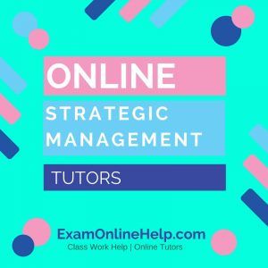 Online Strategic Management Tutors