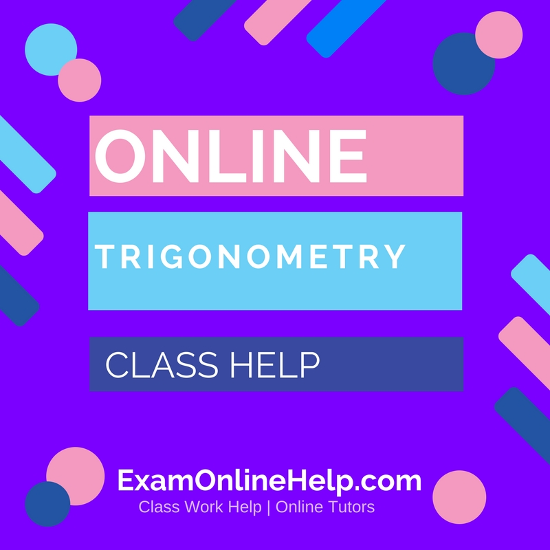 Trigonometry homework help online