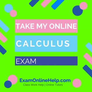 Take My Online Calculus Exam
