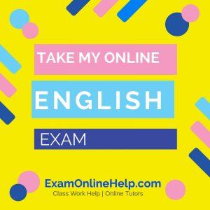 Take My Online English Exam