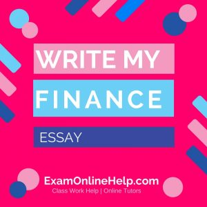 Write My Finance Essay